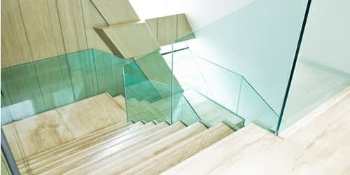 WoodPro Carpentry Solutions in Kendal - Image of Glass Balustrade on Marble Flooring (1)
