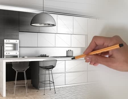 Wood Pro Joinery - Hand Drawing of a Kitchen