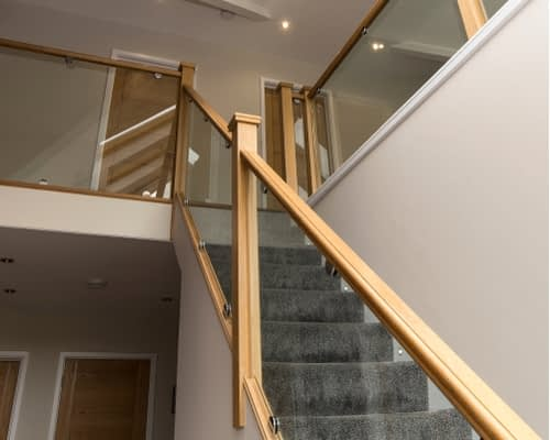 Wood Pro Joinery - Glass Balustrades Lancaster - Glass Balustrades on Stairs 4